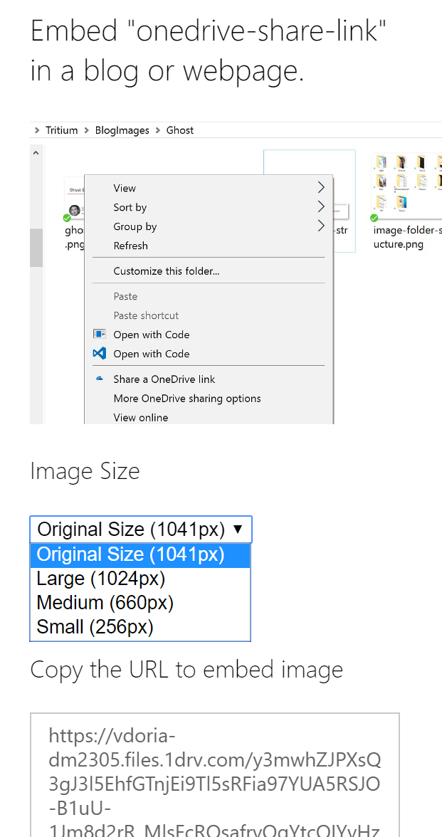 OneDrive image size